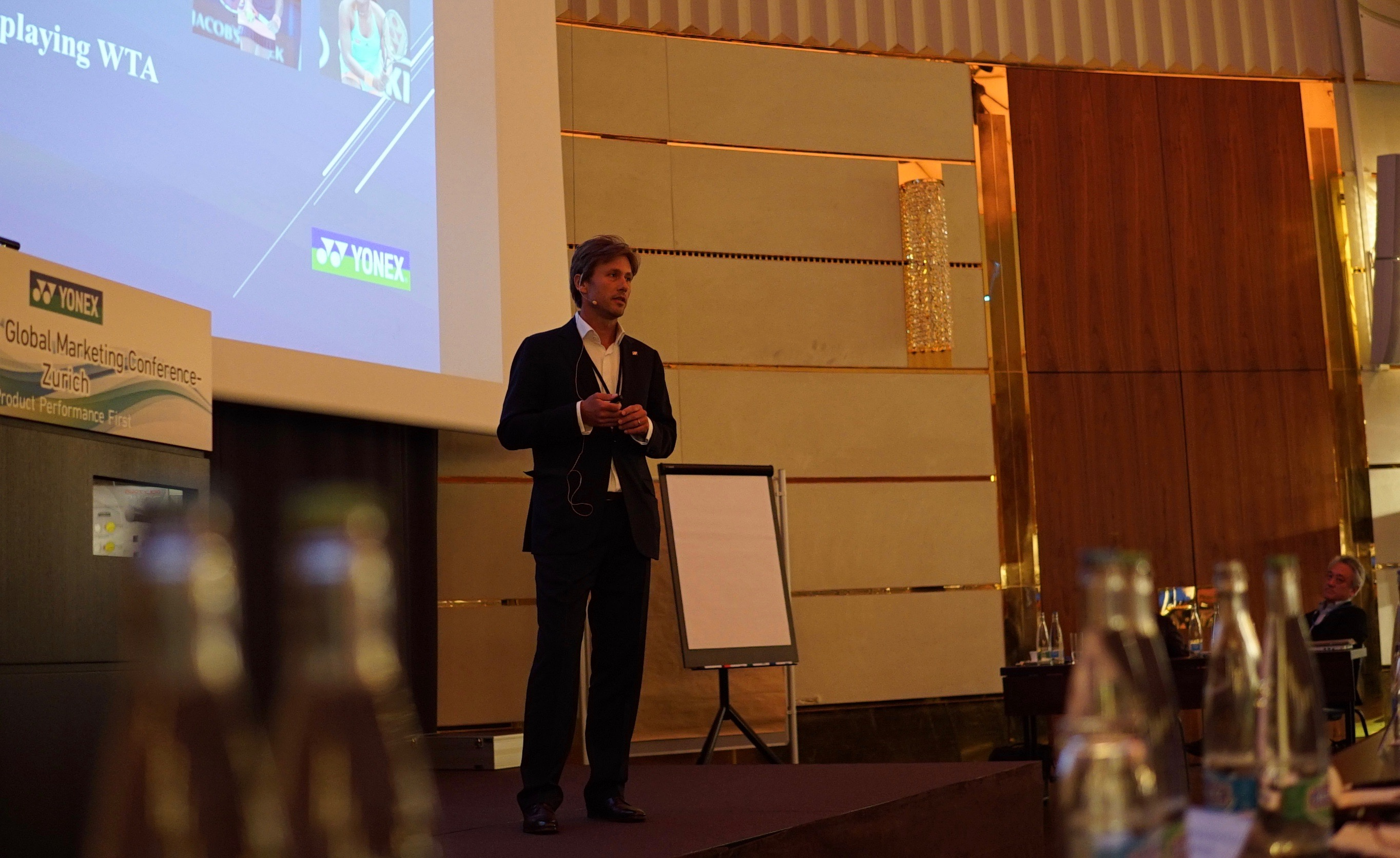 Tennis Coach Nick Horvat at YONEX Global Marketing Conference in Zurich, Switzerland