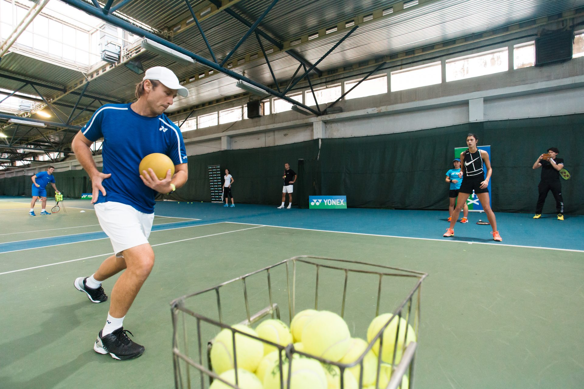 Nick Horvat Tennis Coach on Practice during Tournaments Photo by Vuri Matija