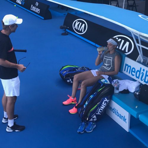 Tennis Player Donna Vekic Coach Nick Horvat Australian Open 2017 Melbourne